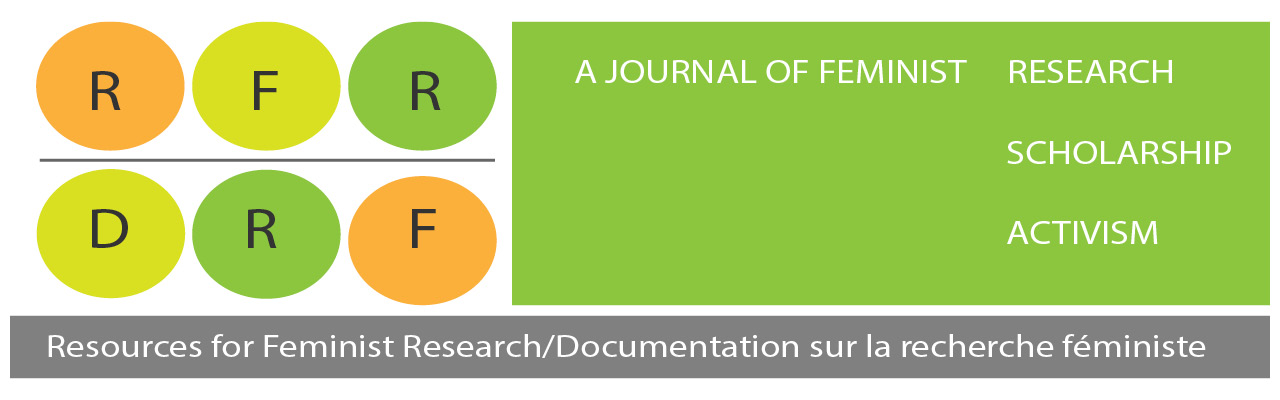 Resources for Feminist Research Journal / Revue de documentation sur la recherche féministe, A Journal of Feminist Scholarship