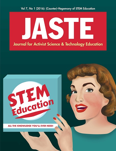 JASTE Vol 7 no 1 cover page